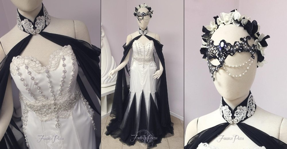 Masquerade Themed Bridal Gown