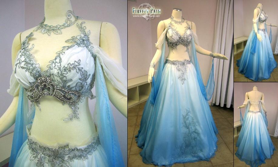 Bellydancer Bridal Gown