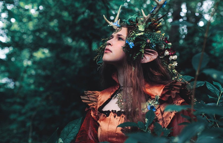Mother Earth Gown and Headdress