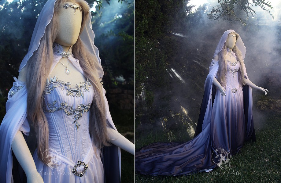 Silver Shadow Elven Gown