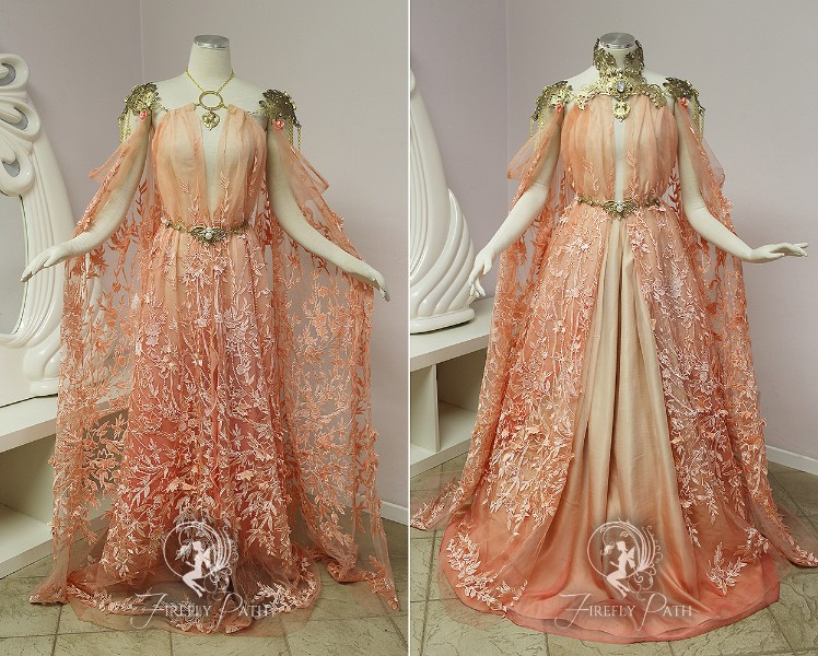 Peach Armor Gown