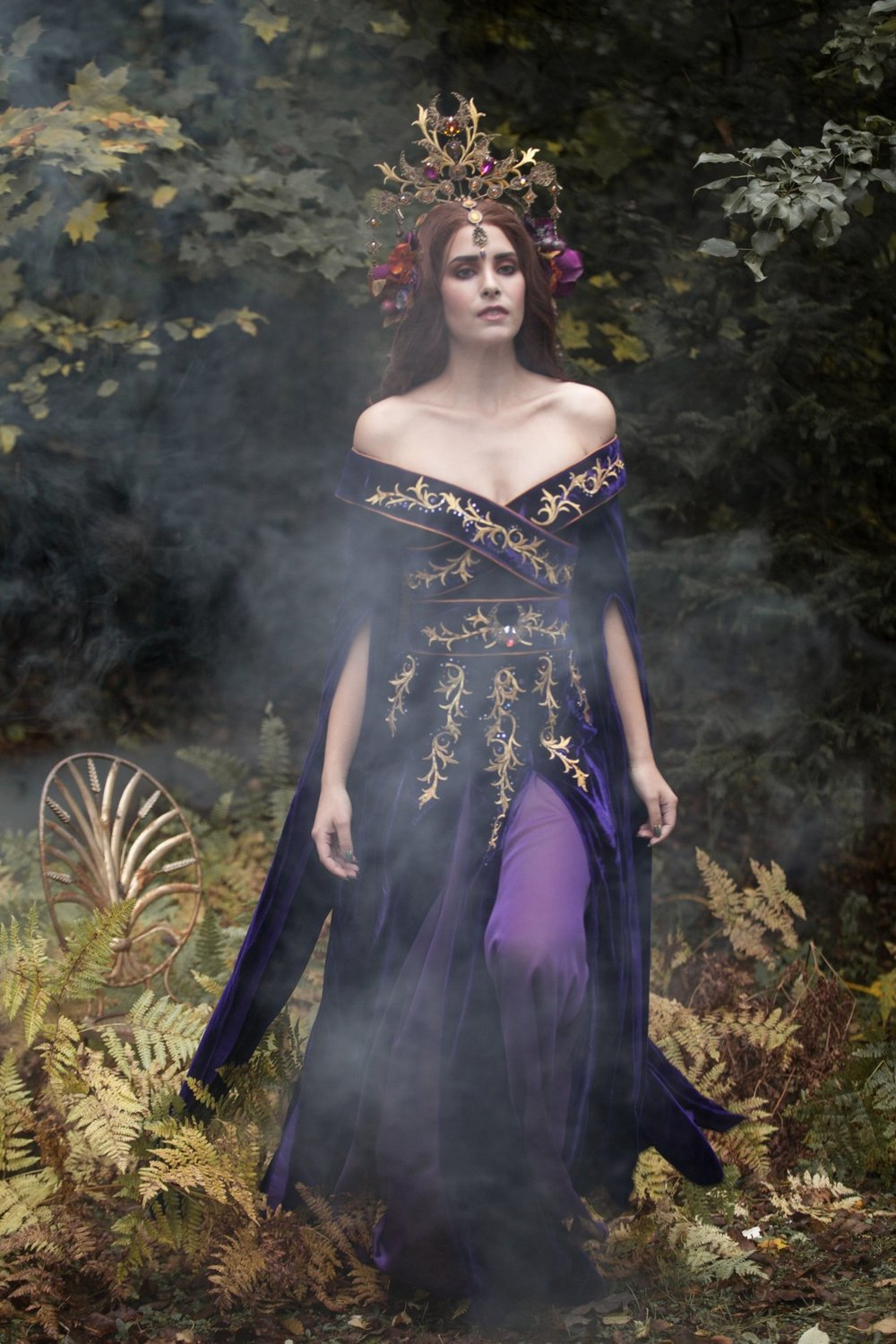Amethyst Orchid Gown