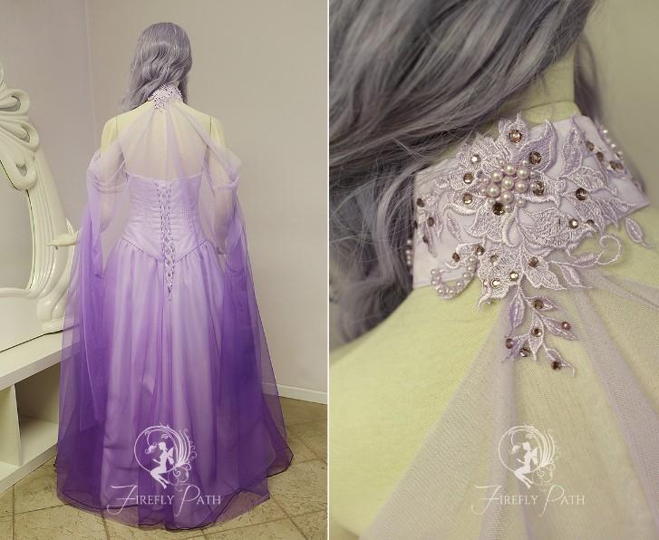 Lavender Elven Bridal Gown