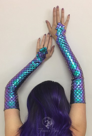 Purple Mermaid Gloves