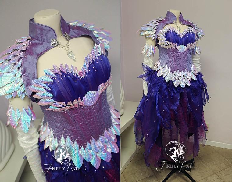 Amethyst Draconia Gown