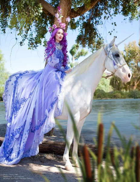 Lavender Masquerade Fairy Gown