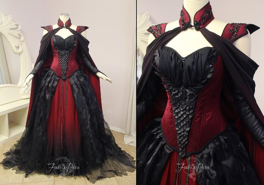 Crimson Dragon Gown