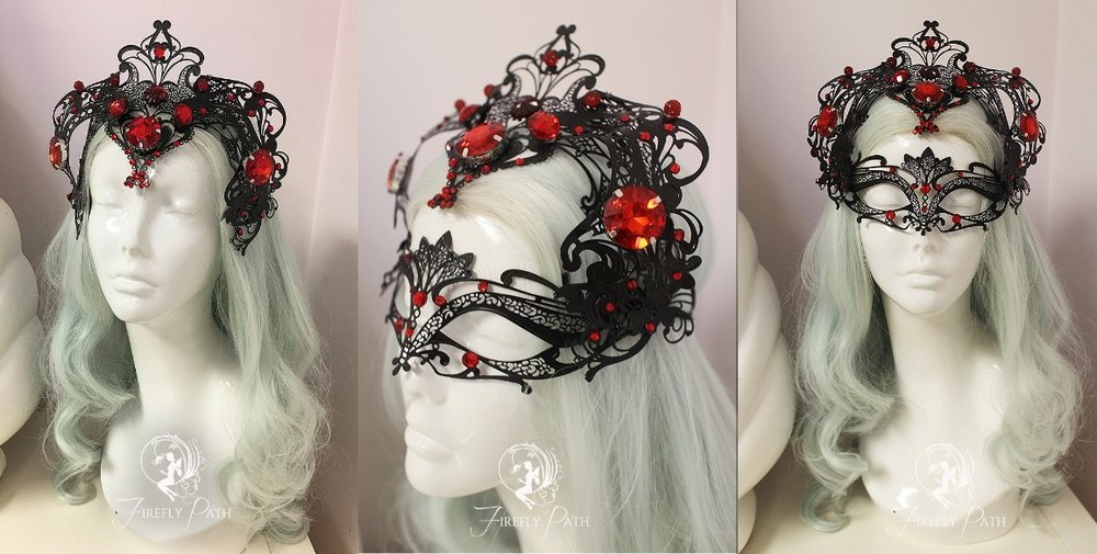 Widowmaker Masquerade Mask and Crown