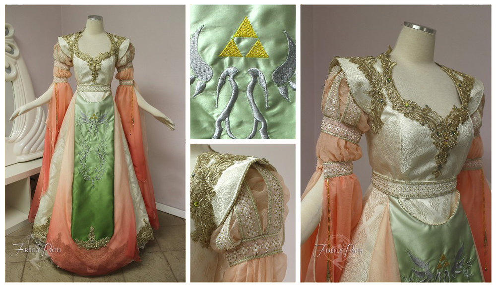 Peach Princess Zelda Gown