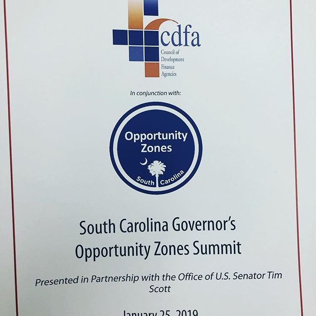Good to be at the South Carolina Opportunity Zones Summit today to learn about how the Tax Cuts and Jobs Act of 2017 can help rebuild low-income communities in South Carolina.