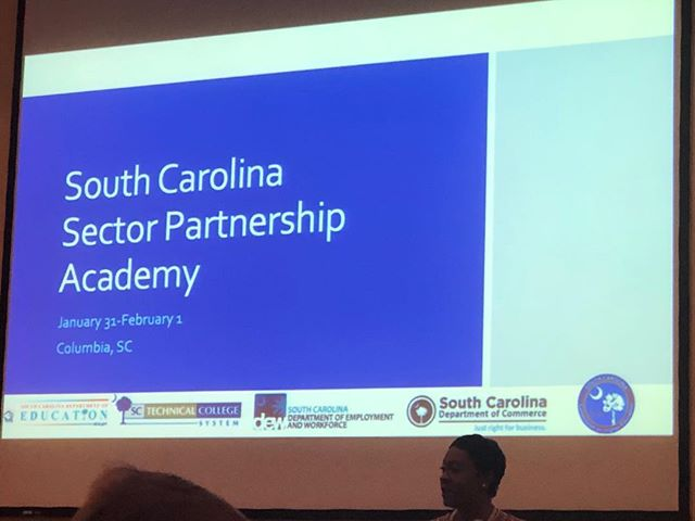 Great to be at the South Carolina Partnership Academy today, which will be focused on launching sustainable, industry-led sector partnerships. #SouthCarolina #SCOpportunity #SouthCarolinaOpportunity #economicdevelopment #workforcedevelopment
