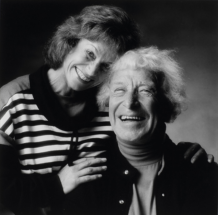 Sidsel Ramson og Carl-Henning Pedersen fotograferet i København 1994 af Finn Rosted