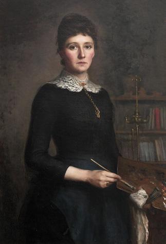 Ludovica Thornam: Selvportræt (1885)