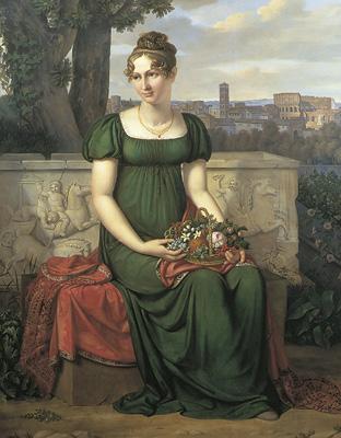 J.L. Lund: Ida Brun som 18-årig i Rom, 1810