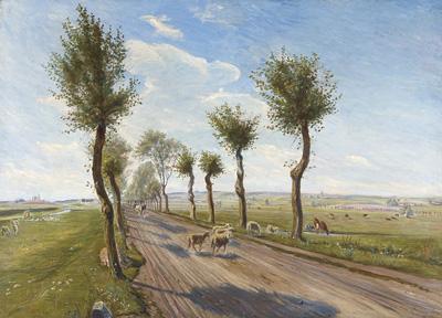 Theodor Philipsen: Landevej ved Fårevejle. 1900.
