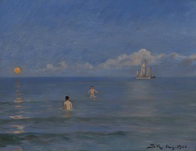 P.S. Krøyer: Badende drenge. 1908