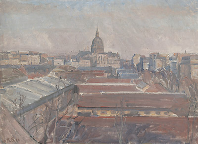 Udsigt over Paris mod Invalidedomen, 1922. Fyns Kunstmuseum