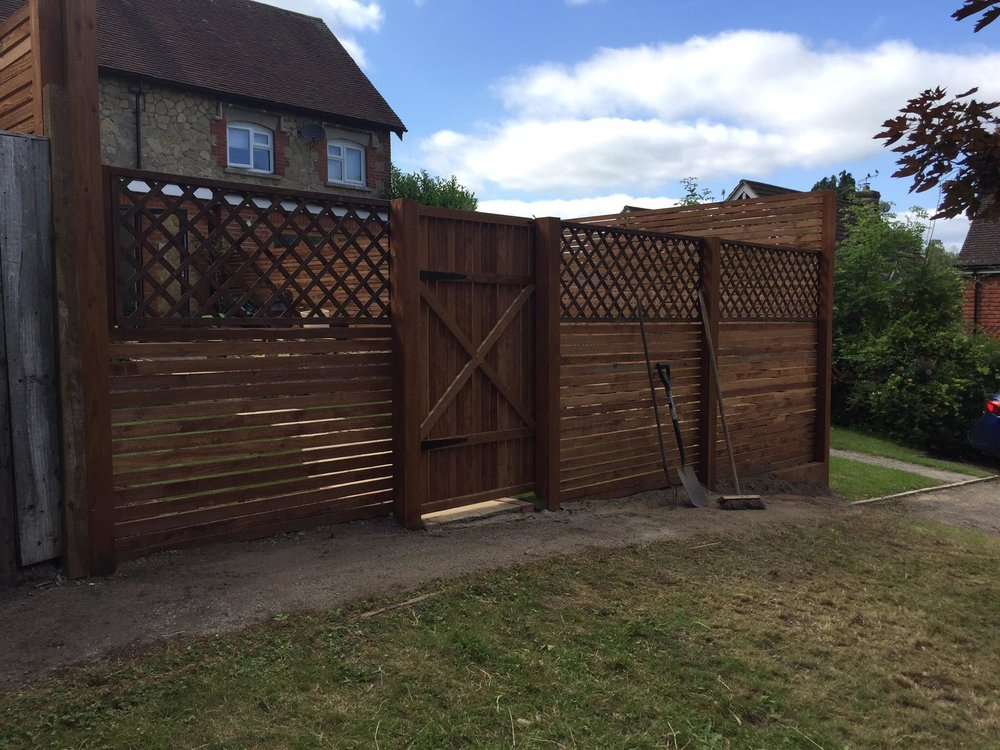 Garden fence and gate