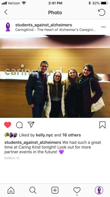 Students Against Alzheimer's, Fordham University, Lincoln Center NYC
