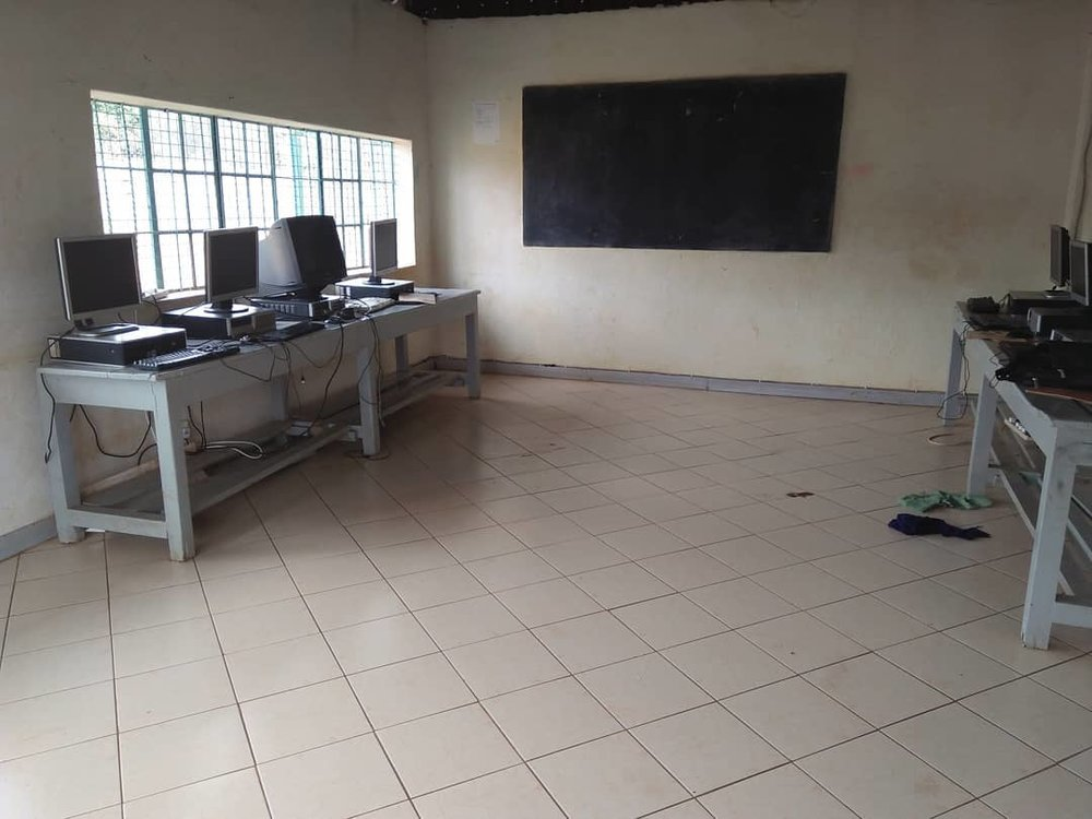Computer lab where boys learn programming