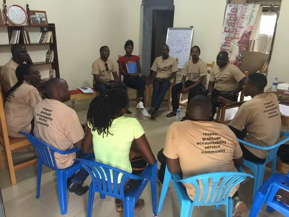 Training session in Uganda