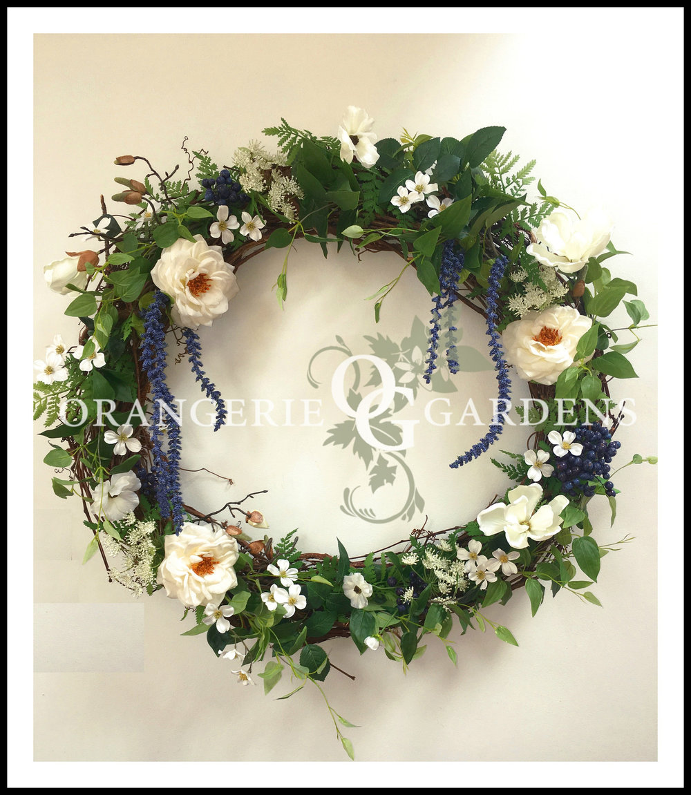 Gardens of Spring Mantle Wreath