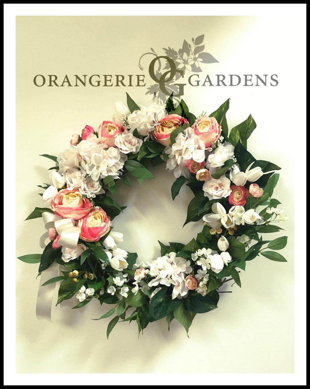 Hydrangea Rose Spring Wreath