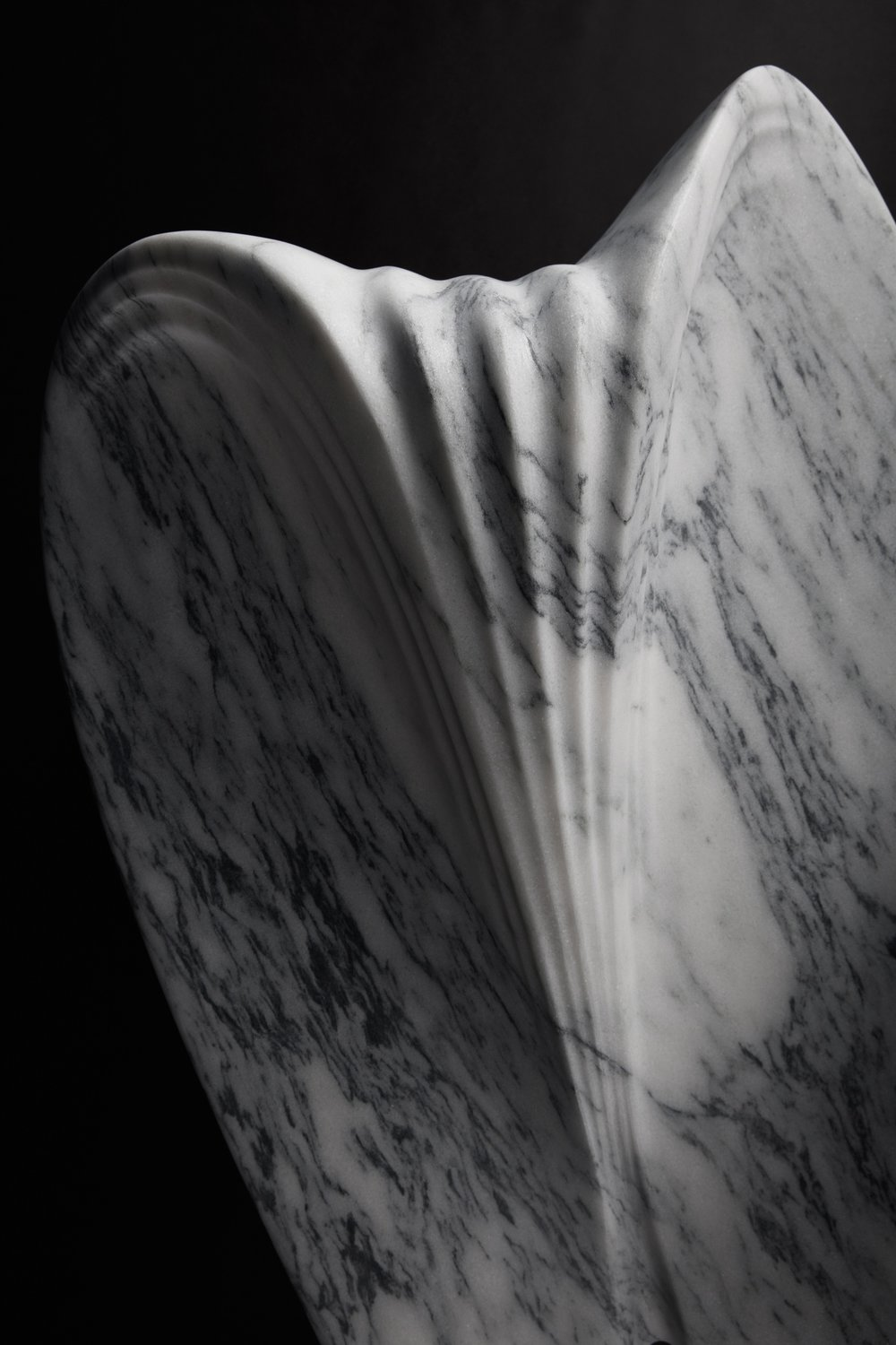 Ripple Table - Robotically Fabricated Marble Table