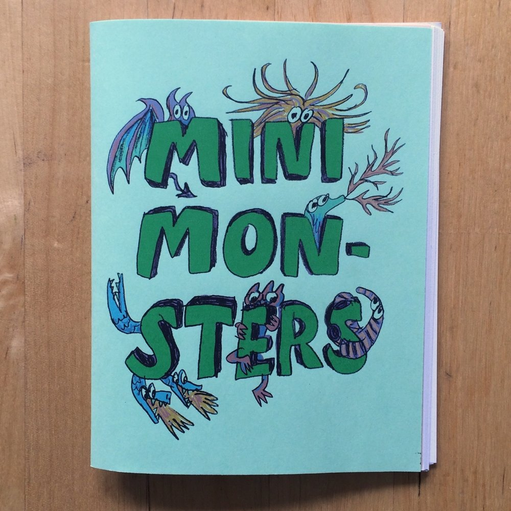 Mini Monsters - Pssst! C'mere. Look what I got — Mini Monsters! Watch what these weird little critters do.Selected for Society of Illustrators' Comic and Cartoon Art Annual 2015Buy it in my Etsy shop!