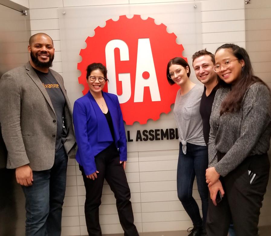 Left to right  Chase Emanuel, Wendy Suzuki, Joanna Skora, Aaron Ullman, Kaye Kagaoan
