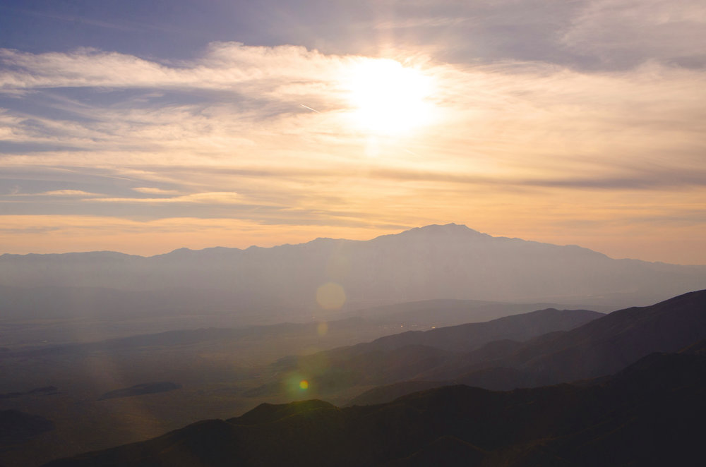 Mount San Jacinto (10,831 feet) is more than twice the heigh of the mountains within Joshua Tree National Park.