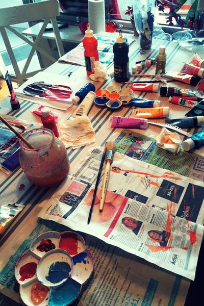 painting creative hobby