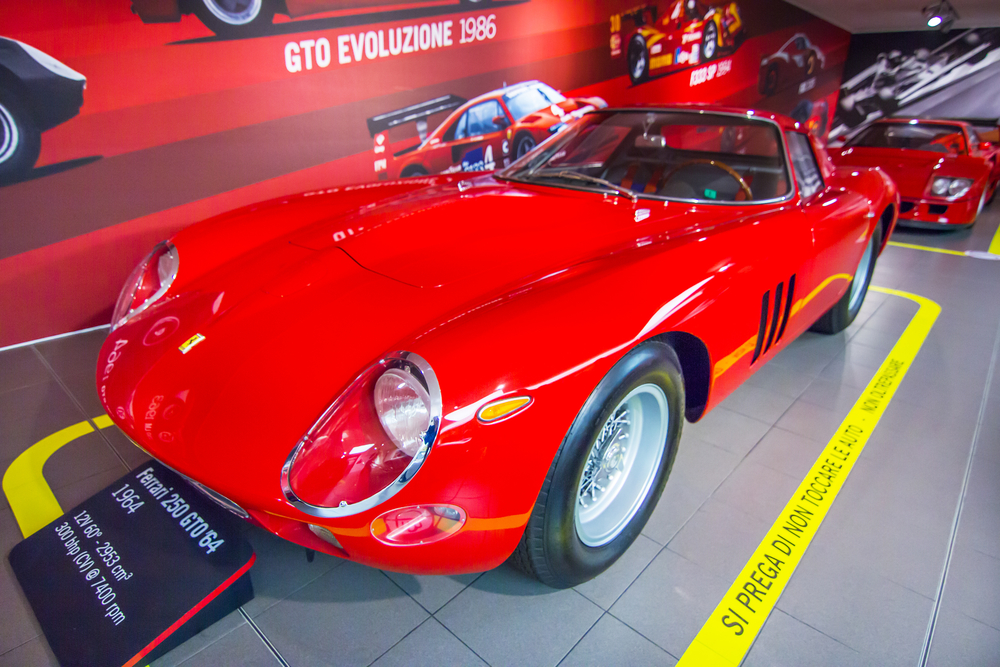 The Ferrari 250 GTO, regarded as the holy grail in the car collecting community due to its rarity and beauty.