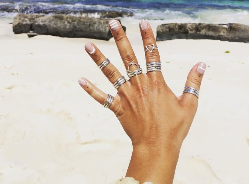 Token Item: Rings by Shop Rumah   SHOP RUMAH's handmade jewelry from Bingin Beach, Bali represents our changing energy, and never ending journey.  SELF-CARE: A perfect day- to-day versatile sterling silver ring. So comfortable that it never needs to be taken off.