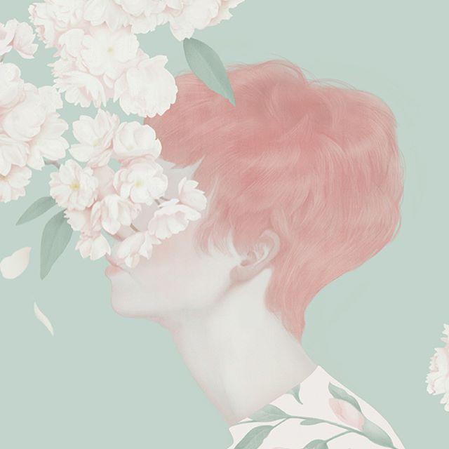 Happiness blooms from within 🌸  Artwork by @hsiaoroncheng  #flowerpower #happiness #positivity #quotes #art #flowerart #beatifulart #amazingart #art #prints