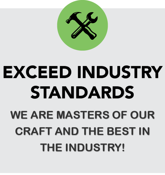 Exceed Industry Standards