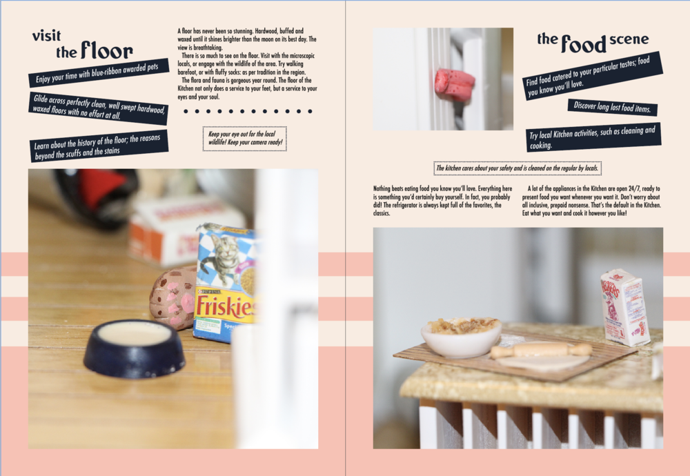 Sample spread from the Kitchen travel guide.