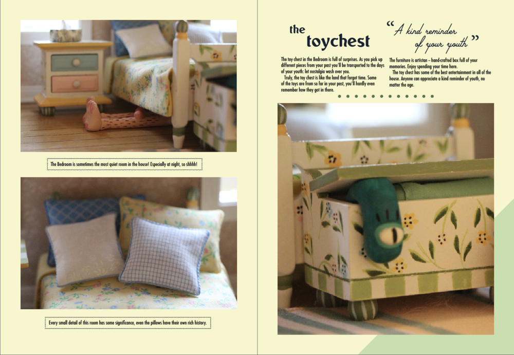 Sample spread from the Bedroom travel guide.