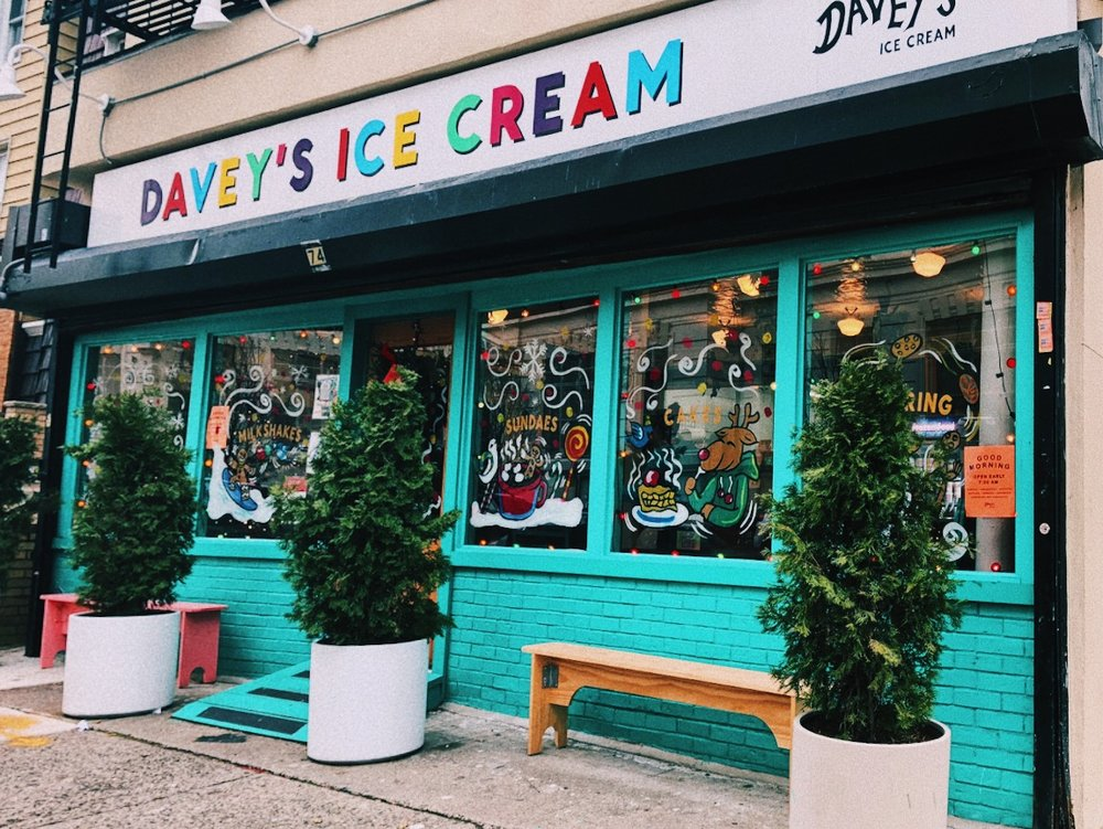 Davey's Ice Cream in Greenpoint, Brooklyn