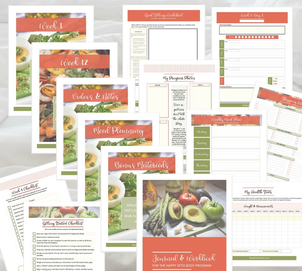 Free Happy Keto Body Bonus Planner - Purchase Happy Keto Body through the link below (or any of the links on this page) and I'll send you the 170 page printable Bonus Planner. Just email your receipt (dated January 10-17, 2019) to me, Jacqui@PlanAHealthyLife.com!