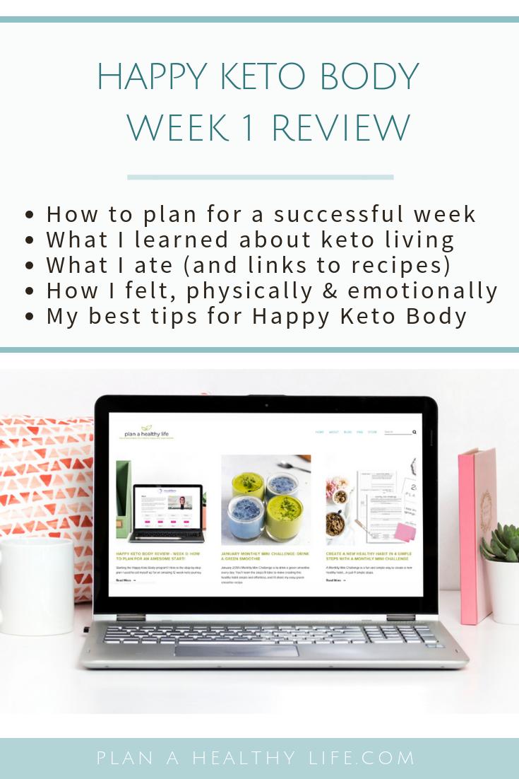 happy keto body review week 1 pinterest