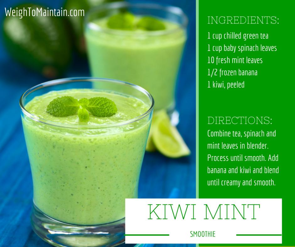 mint kiwi smoothie weightomaintain