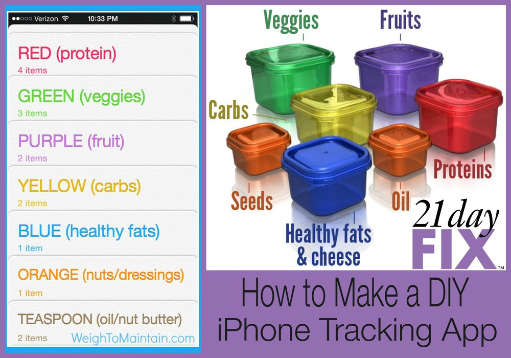 21 day fix diy tracker app