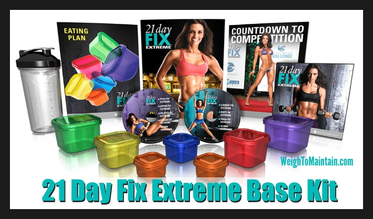 21 Day Fix Extreme base kit weigh to maintain