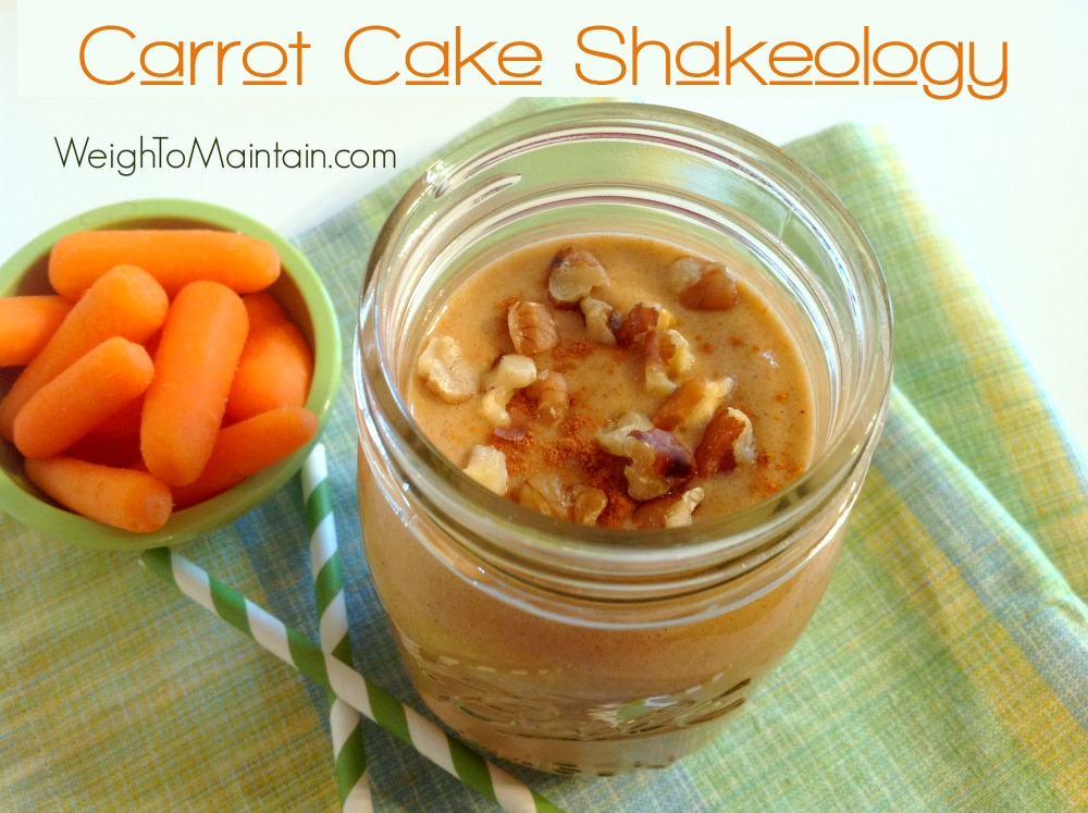 carrot cake shakeology