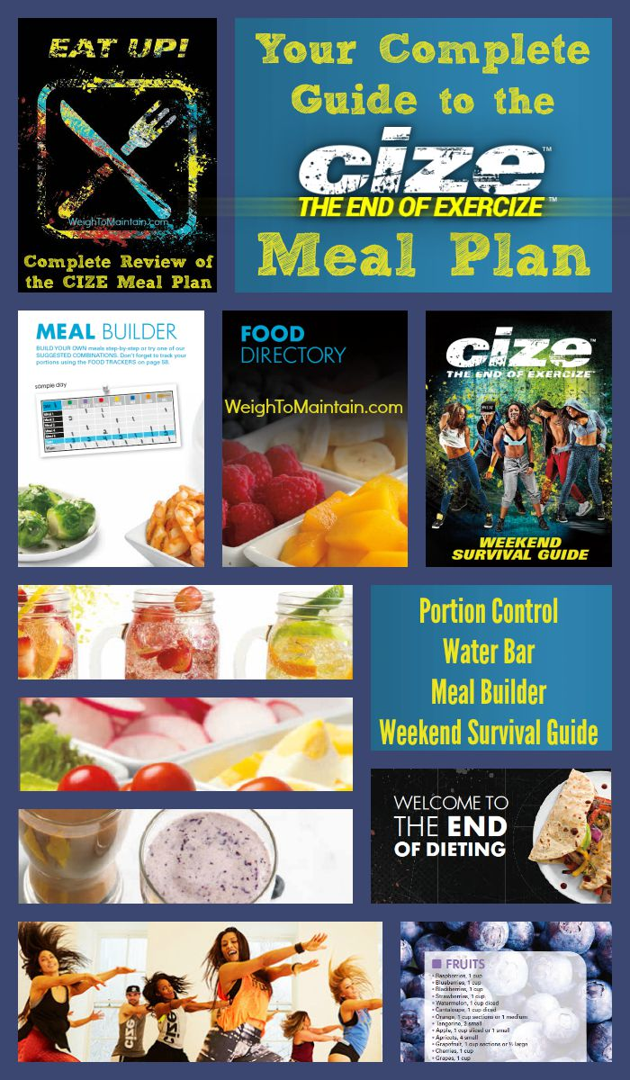 cize meal plan pinterest weigh to maintain