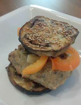 eggplant turkey burgers by valerie k