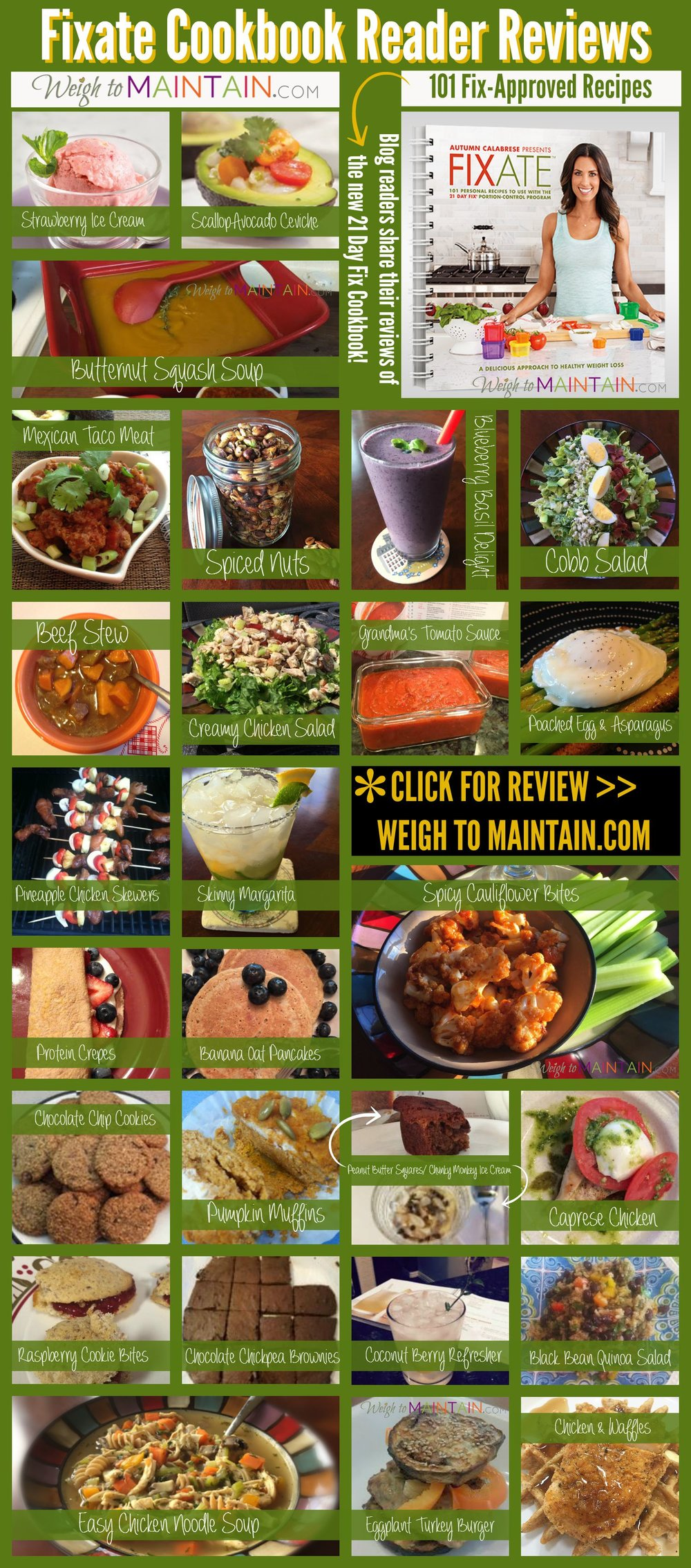 fixate cookbook pinterest 2 weigh to maintain