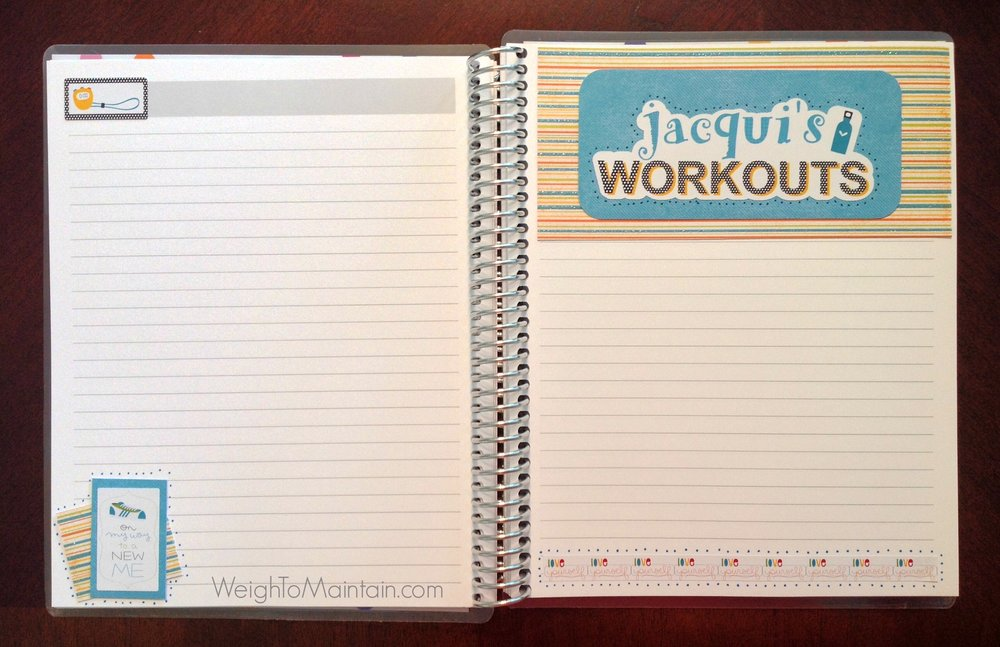 erin condren notebook, fitness notebook