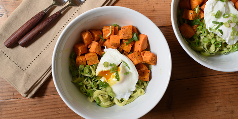 core de force zucchini noodle bowl recipe